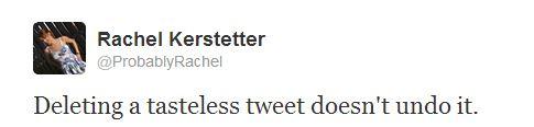 Tasteless Tweet
